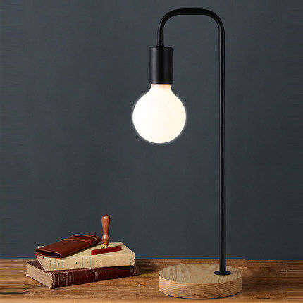 KC lamp Nordic simple dormitory creative personality Table light study modern wooden Table Lamps bedside lamp for students creative fashion led touch small lamp dc plug eye study with college students dormitory dormitory goggle led book
