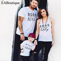 EABoutique Новая Мода Письмо Босс семьи сопоставления одежда соответствия мать дочь отец сына ребенка ползунки