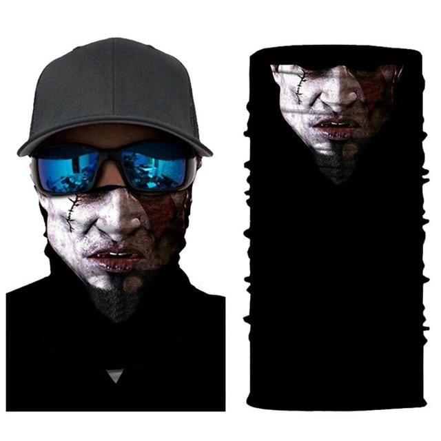 Seamless Skull Skeleton Joker Clown Balaclava Tube Motorcycle Neck Face Mask Scarf Bicycle Hunting Outdoor Ride Bandana Headband 2