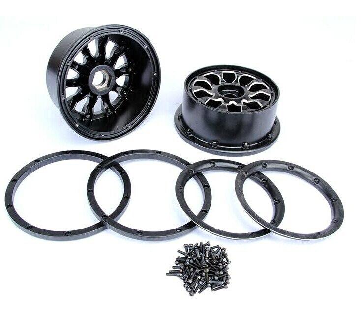 Alloy Rear wheel hub set for baja 5B Metal Alu Wheel Hubs with beadlocks set only 2pc rear hub set