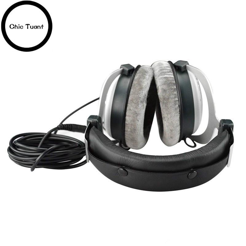 Headband Comfort Cushion Pad with Snap Locks / Replacement Upgrade Headband Fit SONY MDR-V6 MDR-V600 MDR V6 V600 headphones