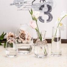 Modern Transparent Glass Vase Mini Small flower vases Hydroponic terrarium glass containers DIY Bottle Home decoration