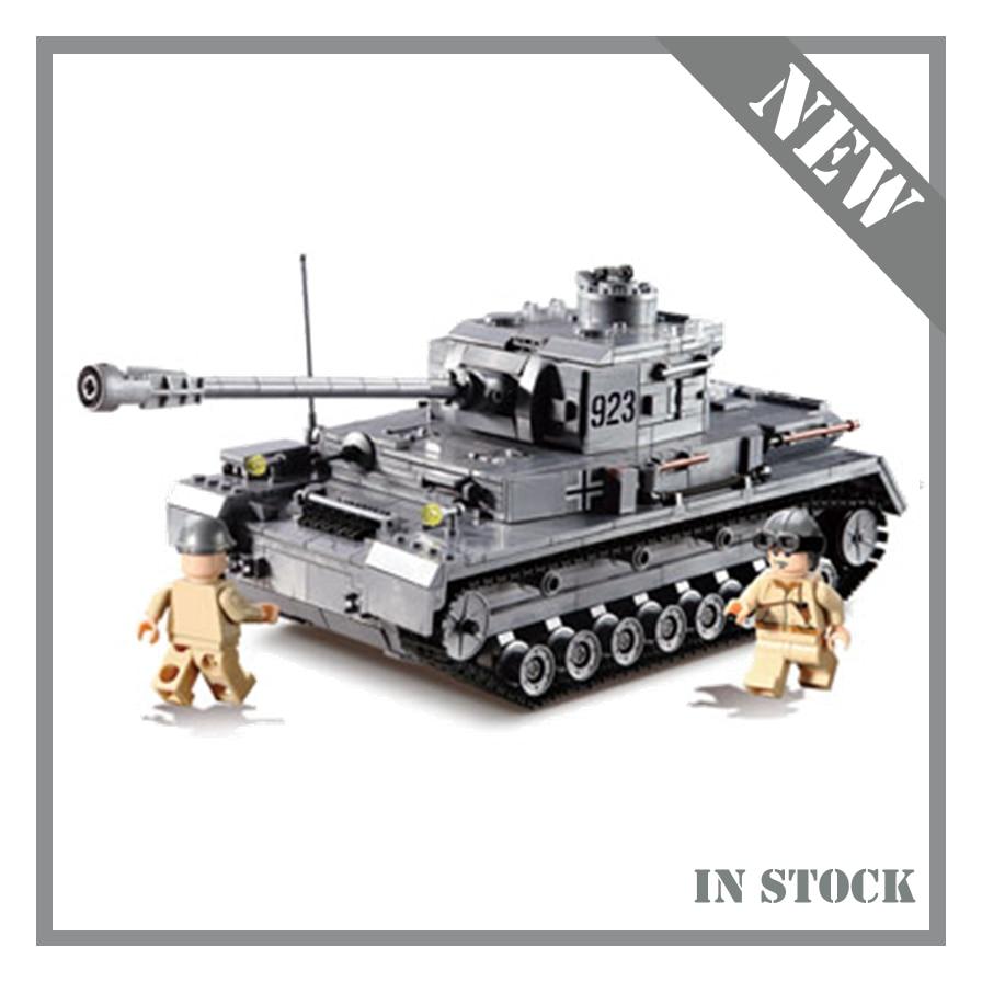KAZI Large IV Tank 1193pcs Building Blocks Army model set Educational Toys for Children Compatible city