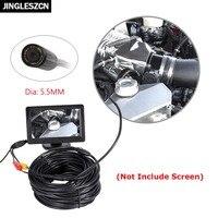 JINGLESZCN AV 5 5mm Dia 1m 5m 10m 15m 20m Length 12V Mini NTSC Waterproof Snake