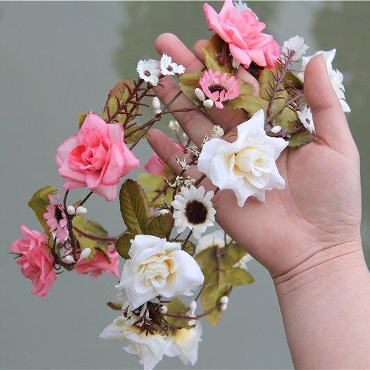 Wedding Flower Crown Suppliers : Aliexpress buy pcs lot woman girls hair accessories