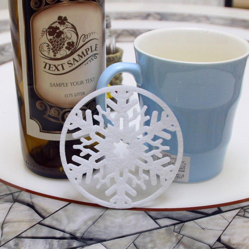 Новый квалифицированные dropship 2 шт. Рождество Кофе грунтовых вод снежинка Coaster изоляции Pad Coaster салфетка oc13