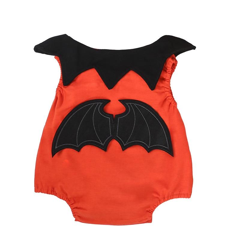 0bee11ee3a9d Halloween Baby Boy Clothes Suits Bat Costumes Orange Newborn Rompers ...
