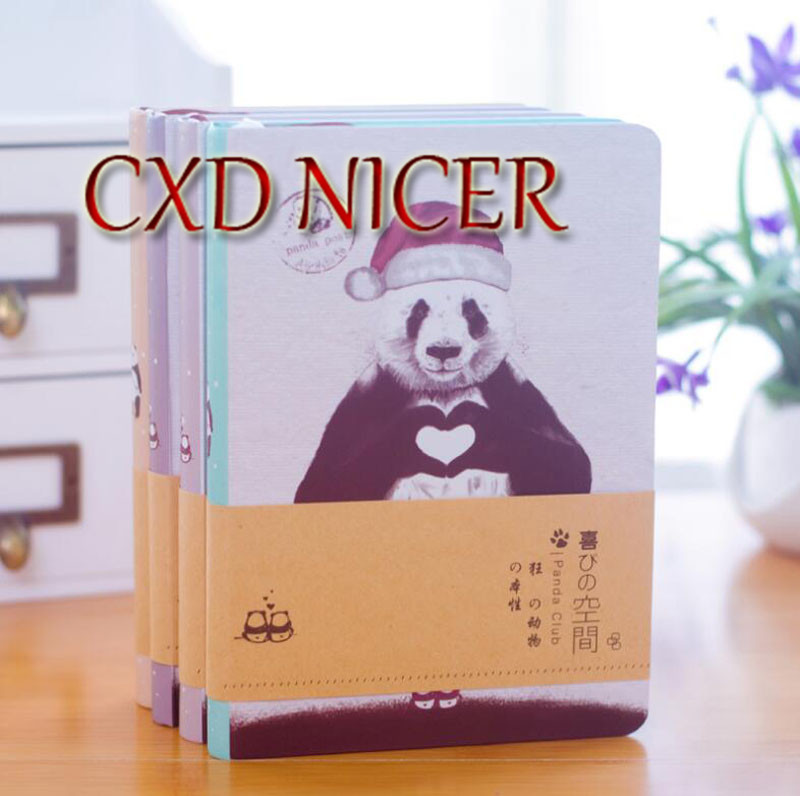 Korean Creative Notebook Stationery Fresh Panda Blank Illustrations Notepad Planner Hardcover Note Book Dd1355 creative pure and fresh japanese style notepad 32k blank notebook hand diary south korea