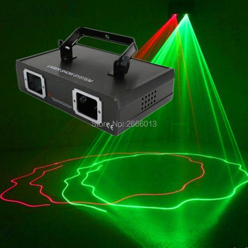 Niugul LED Laser Stage Lighting 2 Lens Patterns RG Laser Projector Green Red Beam Light Effect Show For DJ Disco Party Lights стоимость