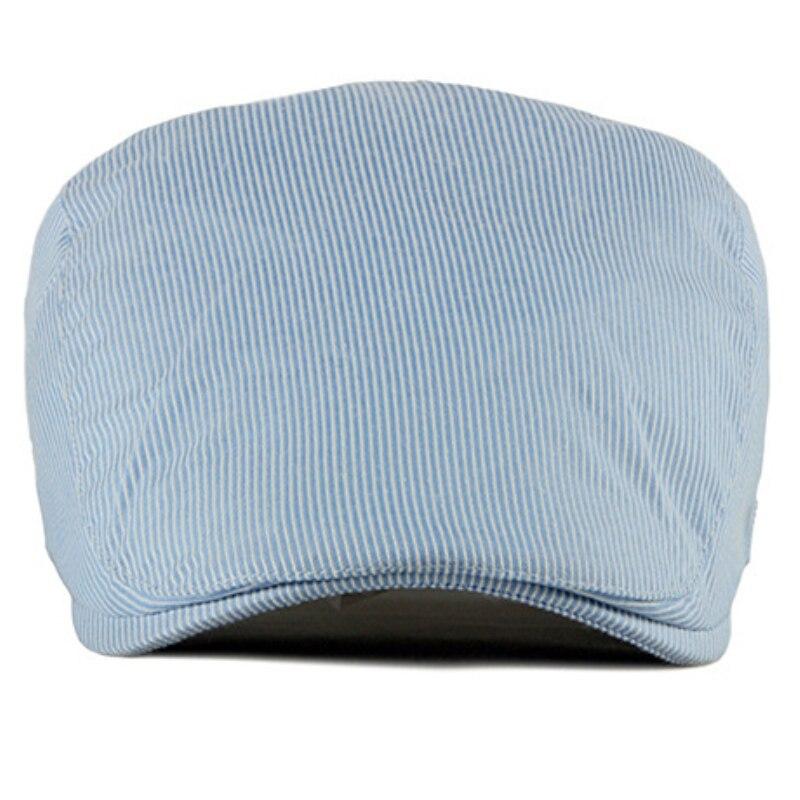 HT2500 Spring Summer Men Women Cap Sun Hat Vintage Striped Ivy Newsboy Flat Cap Adjusted Retro Cotton Beret Men Women Beret Cap in Men 39 s Berets from Apparel Accessories