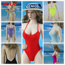 1/6 Scale Sexy Figure Clothes Set Swimsuit & Beach Hat Accessory or 12'' PH Big Breast Action Figure 1 6 scale woman dress zy toys zy5024 maid suit sexy female clothes set suitable for ph big breast action figures body