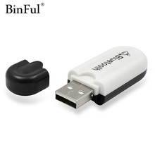 BINFUL Newest Bluetooth 4.0 Music Audio Stereo Receiver 3.5mm Adapter Dongle A2DP 5V