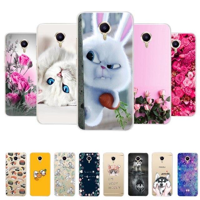 Soft TPU Cartoon Case For Meizu M3 Note Cover Silicone Bumper For Meizu M3 Note Meilan Note 3 Phone Back Case Cover Coque Fundas