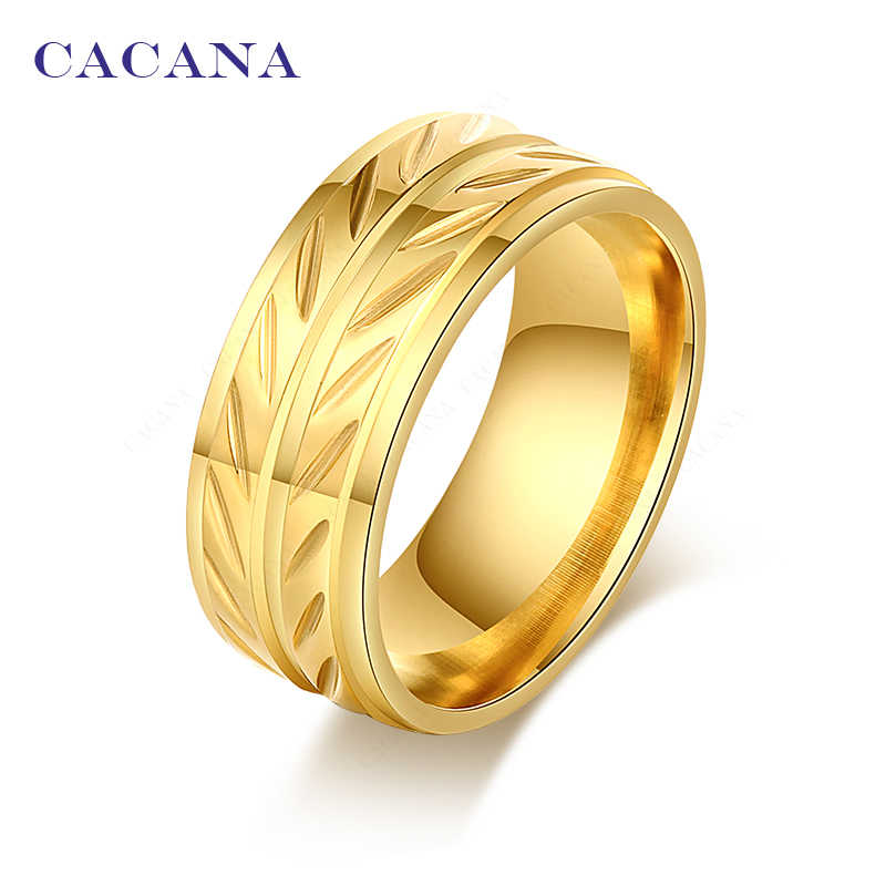 CACANA  Stainless Steel Rings For Women  Fashion Elegant Jewelry Wholesale NO.R76