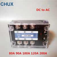 CHUX 3 Fasi Relè A Stato Solido DA 60a 80a 100a 120a 200A 90-480VAC ZG33 3-32VDC DC ad AC Tre SSR relè