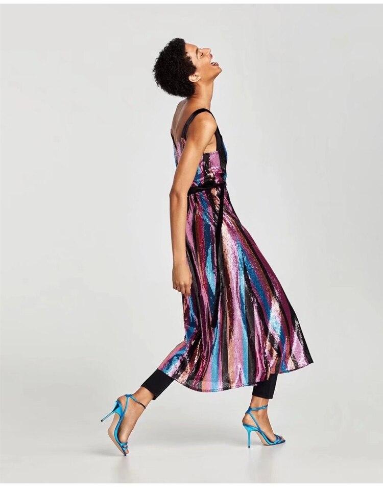 Women Long Sequined Bling Bling Dress Shine Glitter Longer Party Dress  Elegant Rainbow Dresses Empire Waist Camin Dresses-in Dresses from Women s  Clothing ... 49d1b6ec84b4