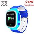Crianças gps tracker q90 touch screen wifi smart watch phone criança Monitor de Chamada SOS Localizador Dispositivo Anti Perdido para o presente do bebê