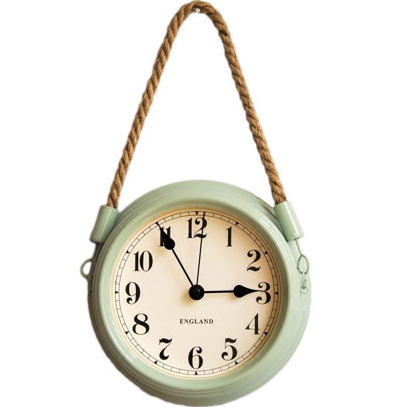 Britannique style Moderne Simple En Sourdine Durable Horloge Murale Exquis Haute Qualité Salon Chambre Horloge Étanche À L'humidité Quartz C345