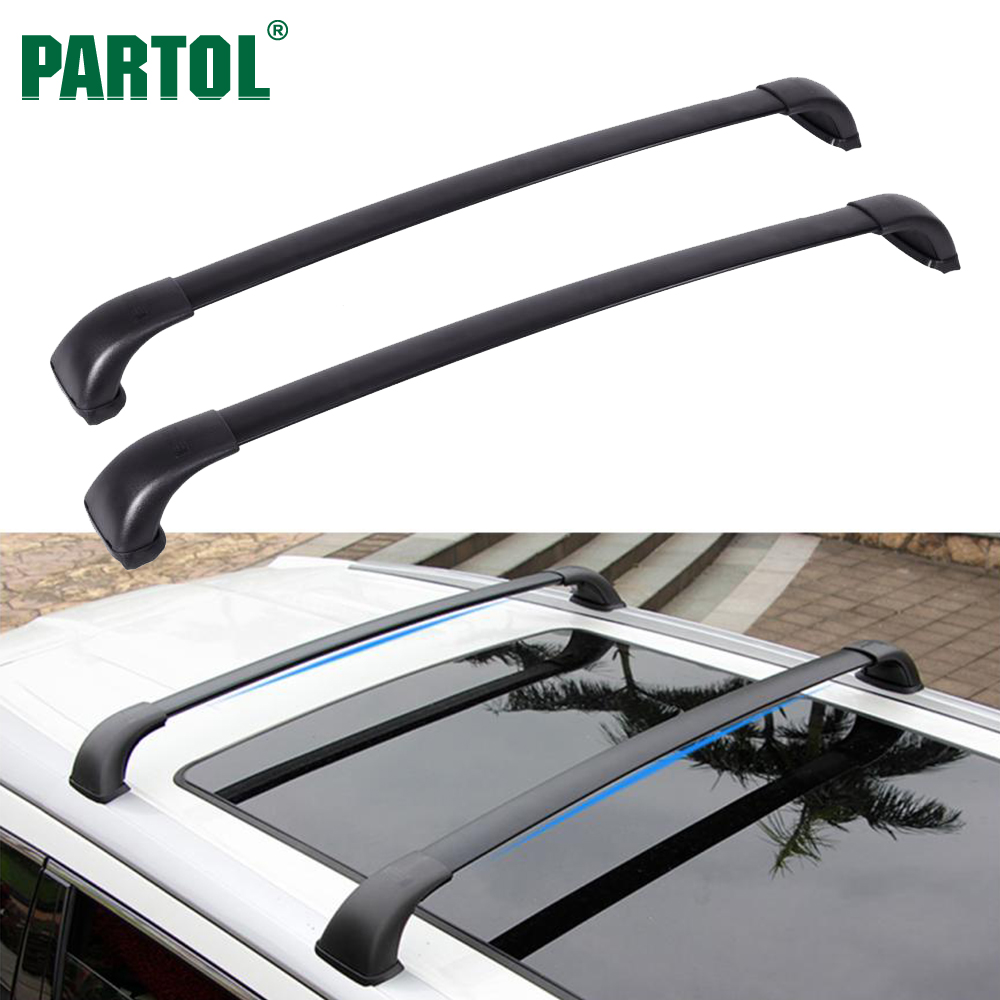 Partol Aluminum <font><b>Car</b></font> Roof Rack Cross Bars Crossbars for Toyota Highlander LE 2014-2017 With 165LBS Capacity, For Kayak Bike Racks