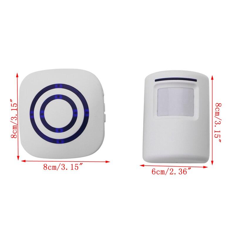 Wireless Infrarot Sensor Tür Sicherheit Glocke Alarm Chime EU/Us-stecker