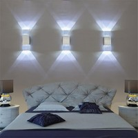 2pcs 4W Led Wall Light Lamps Sconce Acrylic Crystal With Aluminum Case 8 colors for Bedroom Bathroom Living Room Modern JQ