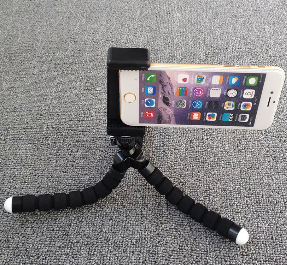 Universal Smartphone  Holder mount bracket Adapter Clip Flexible Mini Tripod for iPhone, Samsung Galaxy dural use phone clip ipad holder pad mini tripod mount adapter 55 190mm bracket