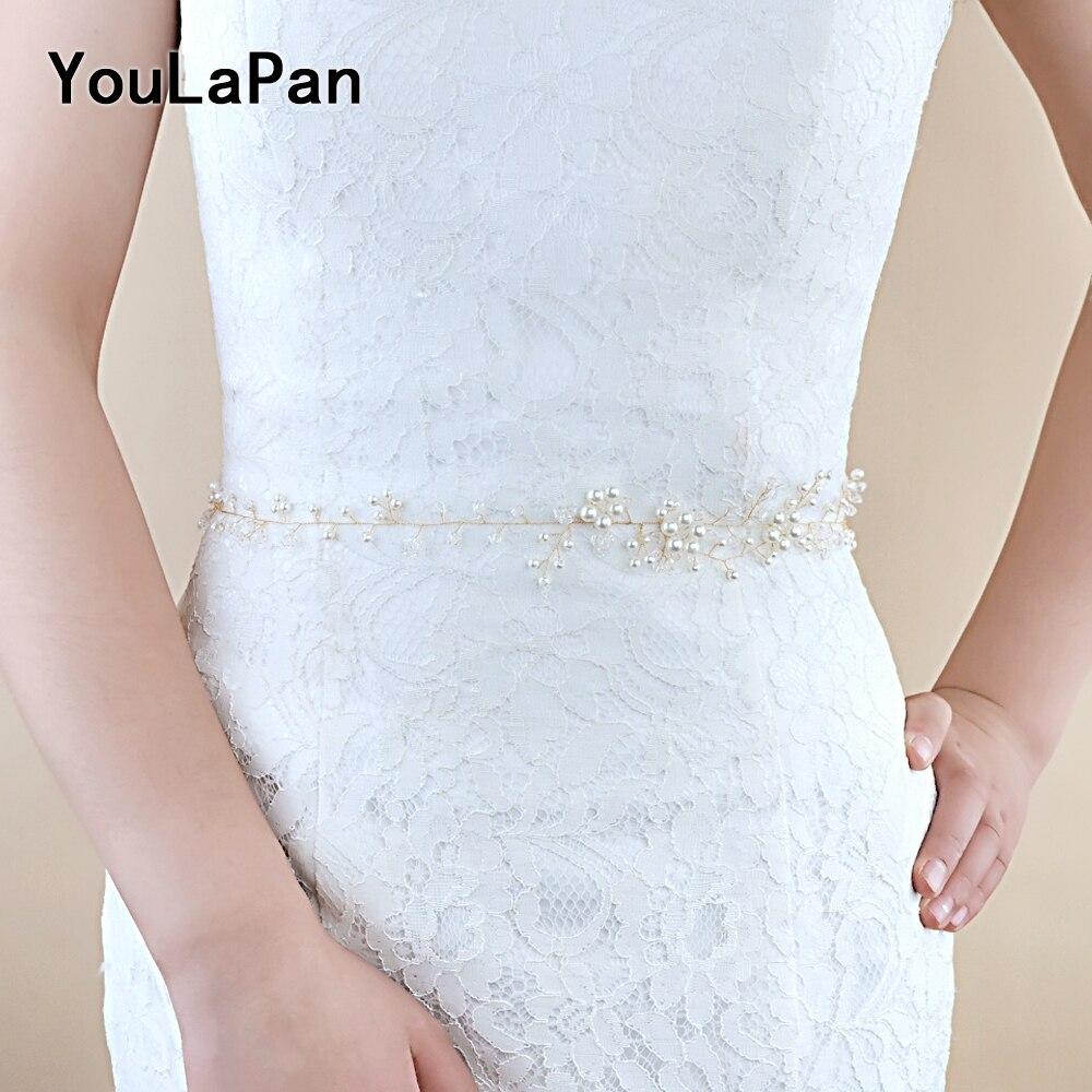 YouLaPan SH126 Wedding Accessories Wedding Sash Vine Bridal Belts Crystals Bridal Sash Thin Belts Wedding Belt Evening Dress
