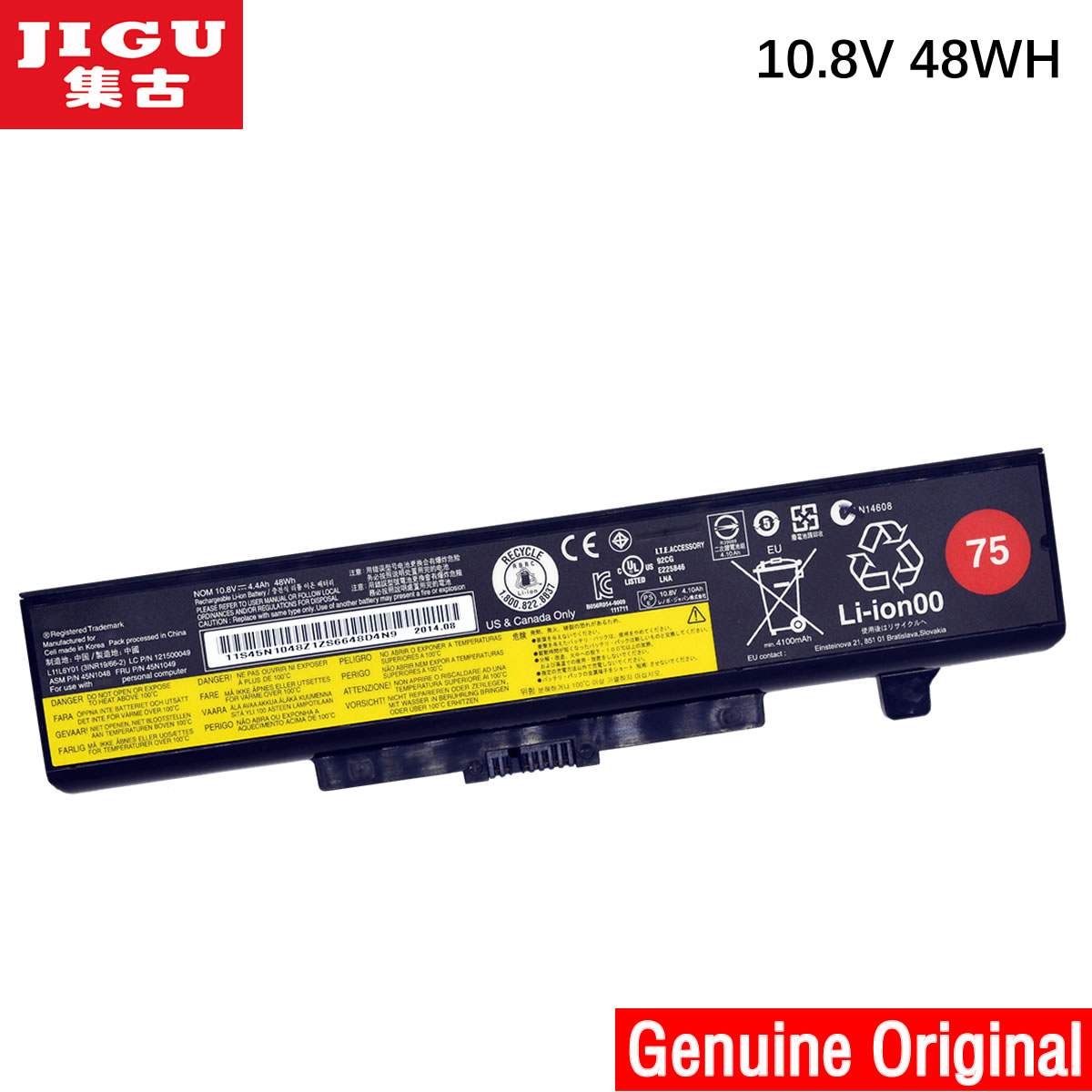 JIGU Original laptop Battery For Lenovo V580 V580C Y480 Y480P Y485 Y580 Y580A Z380 Z480 Z485 Z580 Z585 V480S V480u jigu new battery l11l6y01 l11s6y01 for lenovo y480p y580nt g485a g410 y480a y480 y580 g480 g485g z380 y480m