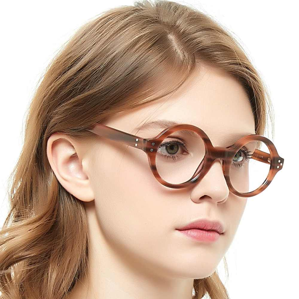 1ed1160cf905 Detail Feedback Questions about OCCI CHIARI Retro Round Frame Brand Design  Prescription Nerd Lens Medical Optical Glasses Frame black for Men Wome  CAPPAI on ...