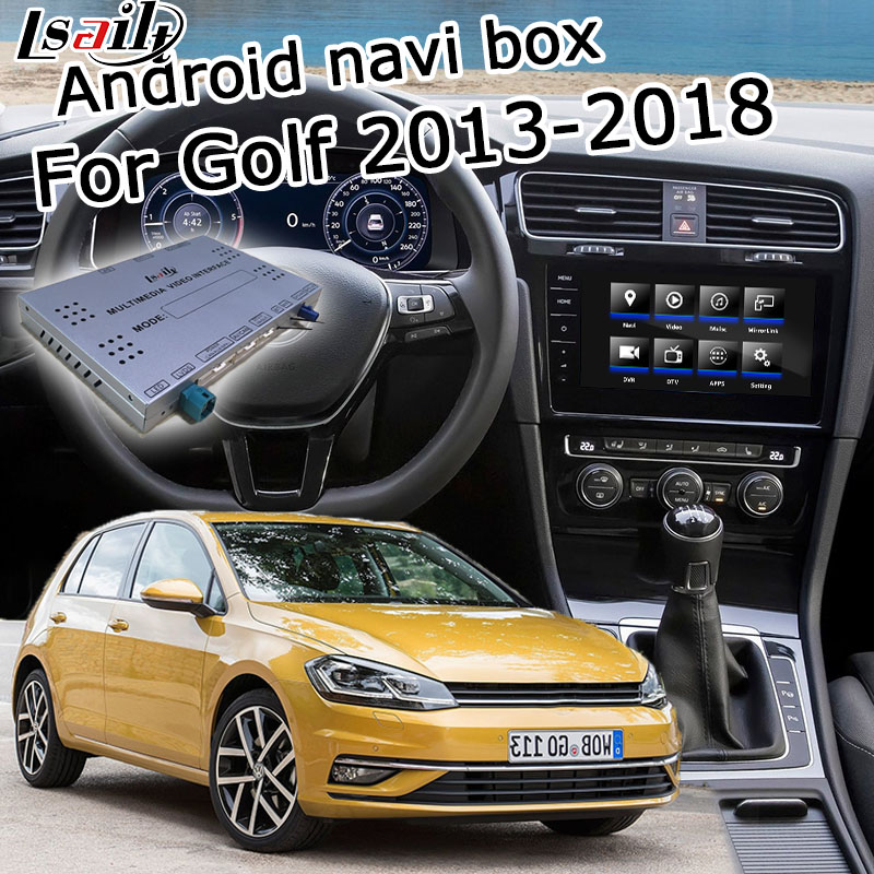 Android / carplay interface box für Volkswagen Golf mk7 MIB MQB entdecken pro android GPS navigation video interface box Lsailt