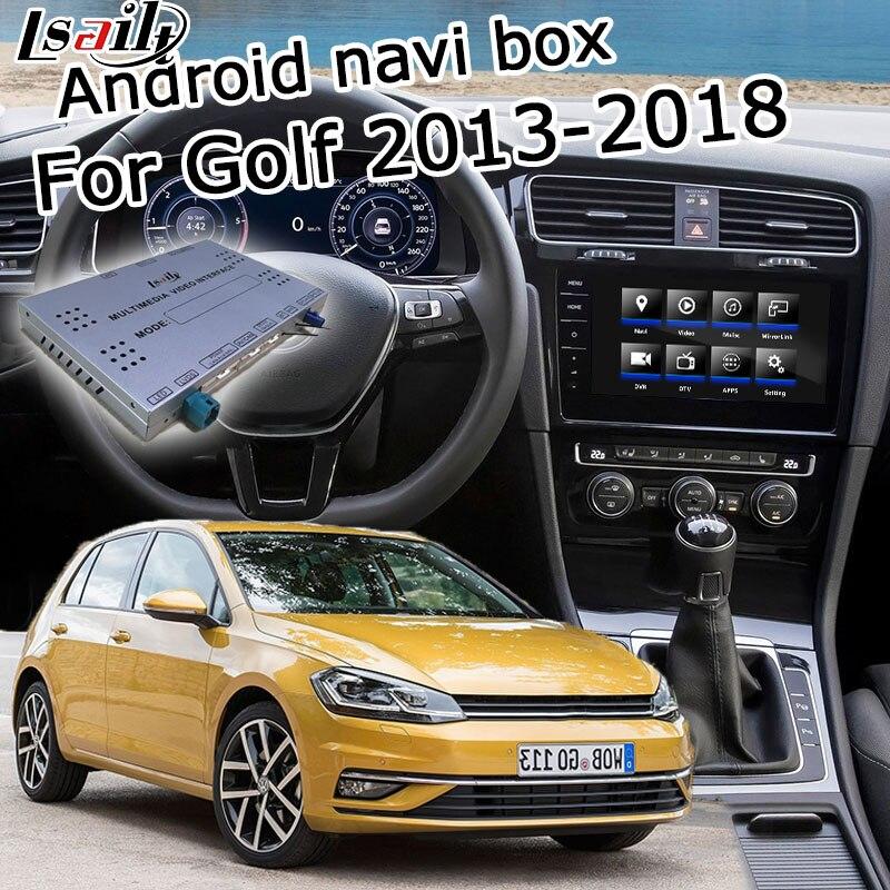 Android GPS box navegação para Volkswagen Golf mk7 caixa com espelho link youtube carplay android interface de vídeo por Lsailt