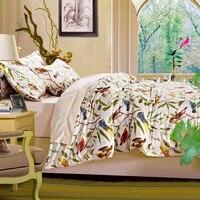 Brushd Cotton Leaf Bedding Sets Tree Duvet Cover Feather Shoe Print Bedclothes Sheet Bed Set Linen