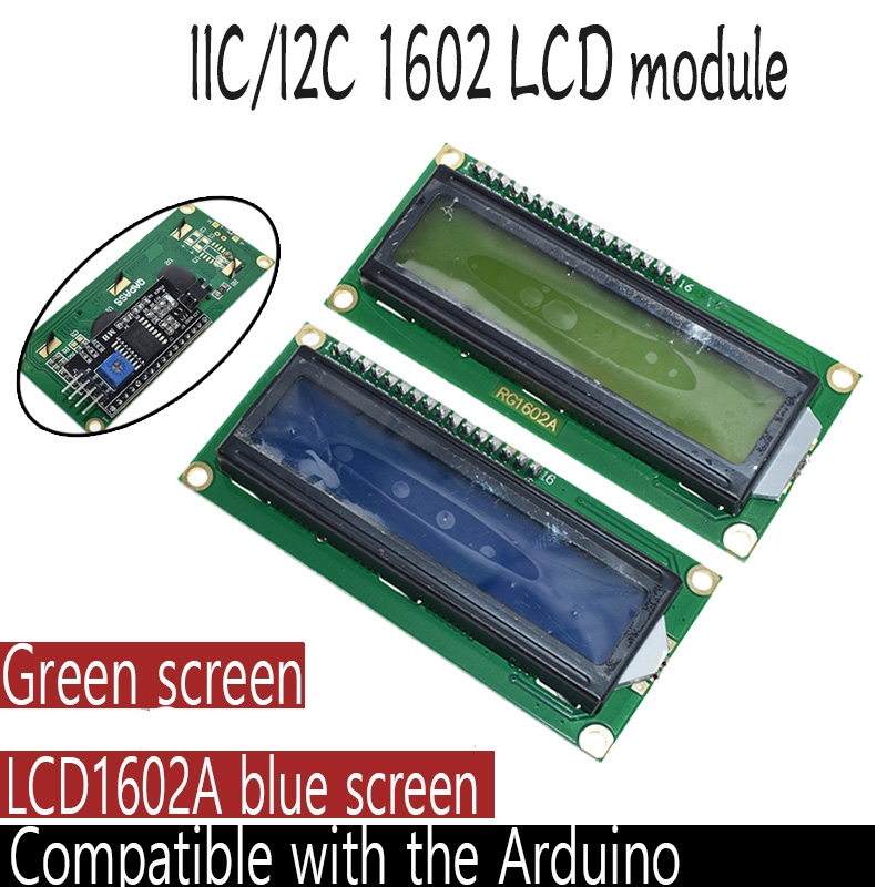 Плата адаптера для ЖК-дисплея 1602 + I2C LCD 1602, синий зеленый экран PCF8574 IIC I2C LCD 1602 для arduino uno r3 mega2560