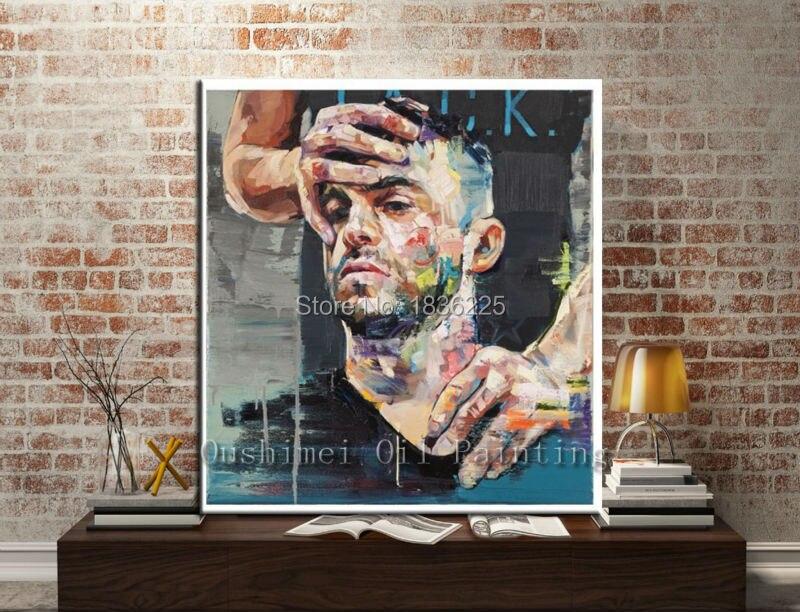 Figure tête mur décor homme visage peinture à l'huile avec p o cadre peinture à l'huile célèbre peintre peintures abstraites pour chambres