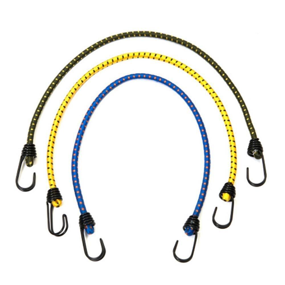"New 10pc 10/"" Mini Bungee Cords Elastic Stretch Hook Luggage Car Bike Camping"