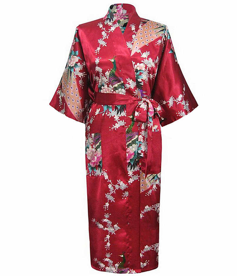 d100c763f2 Detail Feedback Questions about New Arrival Burgundy Ladies Sexy Summer  Nightgown Long Style Robe Bath Gown Kimono Yukata Gown Size S M L XL XXL  XXXL A 113 ...