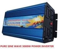 3000 Вт dc 12 В/24 В/36 В/48 В к ac 110 В/220 В двойной цифровой дисплей Чистая синусоида Мощность инвертор