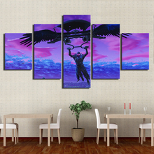 Холст картины Домашний Декор 5 шт. игры мультфильм рисунок фотографии HD печатает абстрактный Популярные Плакаты для гостиная рамки для настенных картин