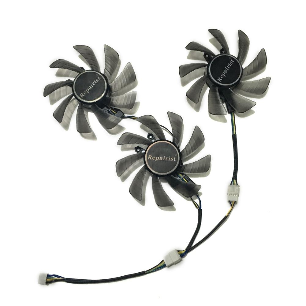 ZOTAC GTX1080Ti GTX 1080 Ti GPU VGA Cooler Alternative Cooling Fan For GALAX GTX1070/1080/1060 HOF Video Cards As Replacement цена