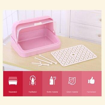 Кухонная посуда, коробка для хранения столовых приборов с крышкой, подставка для бутылки молока, стойка для посуды контейнер для палочек дл...