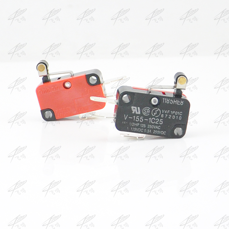 5Pcs Roller Lever Arm SPDT NO/NC Momentary Micro Switches V-156-1C25 Pulley 15A 250VAC V-155-1C25