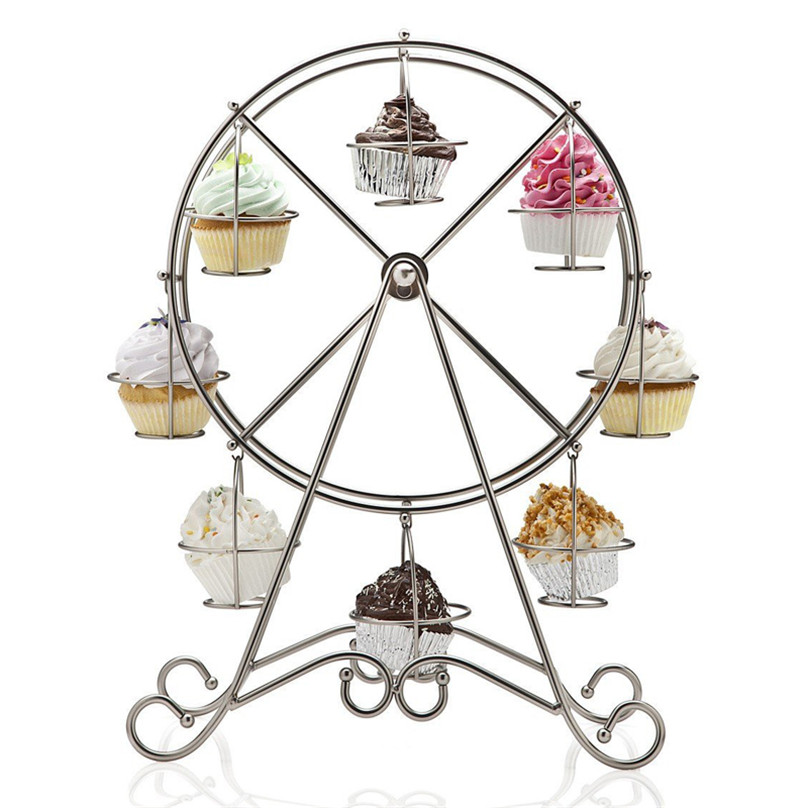 2016 diy christmas ferris wheel cupcake stand novelty muffin holder wedding decorating fondant xmas navidad natale 1468 in stands from home garden on - Christmas Ferris Wheel Decoration