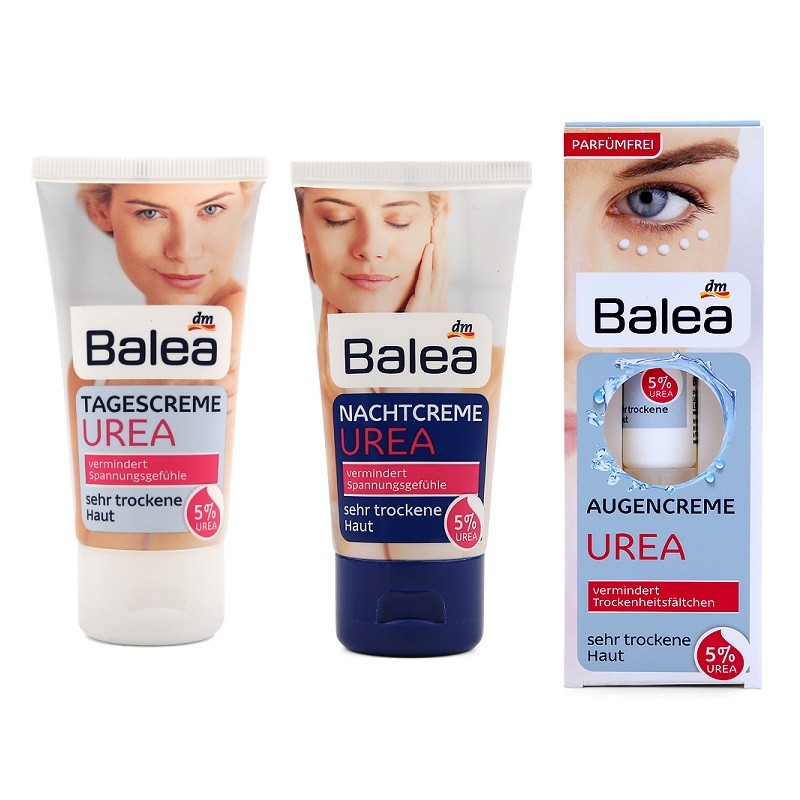 Quality Balea Urea Skin Care Set Day Cream+Night Cream+Eye Contour Cream with 5%Urea Cream for Very Dry Skin Intensive moisture все цены