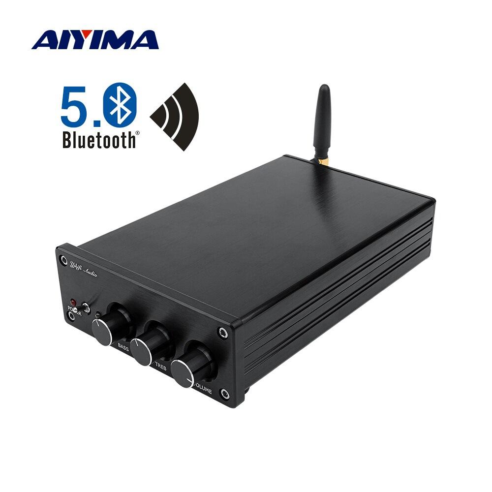 AIYIMA TPA3255 amplificateur de caisson de basses 150Wx2 + 325W classe D 2.1 canal HIFI numérique Bluetooth 5.0 amplificateur de puissance amplificateur Audio