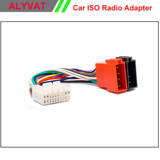 car iso radio adapter connector for honda 1999+ acura1999+ suzuki 2001+ wiring  harness stereo adaptor power cable plug wire