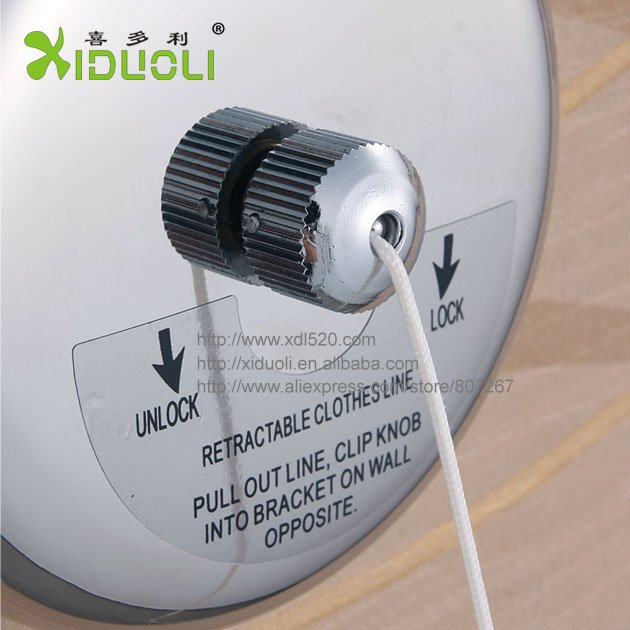 Xiduoli Stainless Steel Bathroom Accessory Clothesline Washing Line Retractable Clothes Xdl 1420 In Laundry Products From Home Garden On