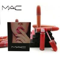 MAC 12/set Different Colors Mac Matte Lip Gloss Sexy Matte Lipstick Long Lasting Lip Stick Waterproof Lip gloss Makeup Lipstick