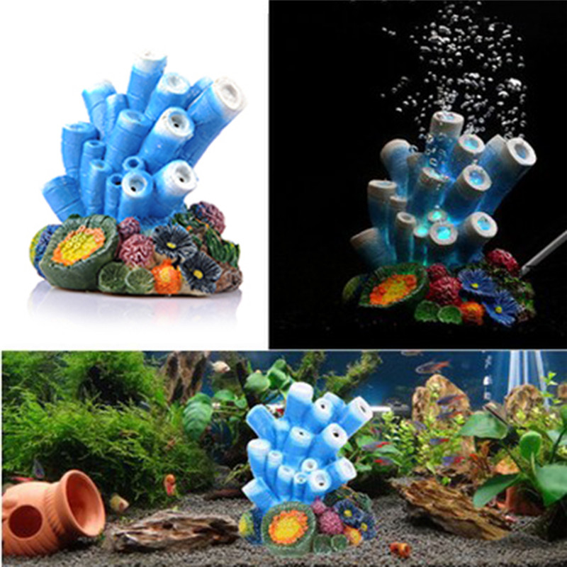 Fish tank decorations simulation coral bubble air stone for Aquarium stone decoration
