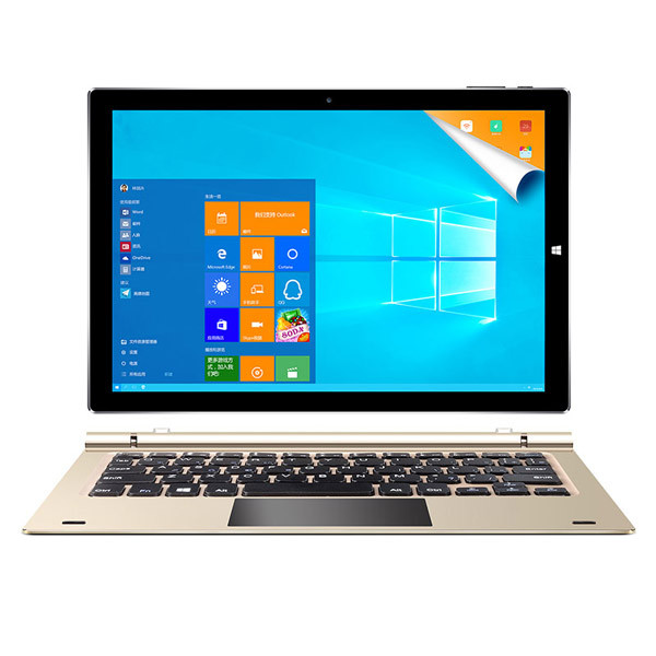 TecLast 4G RAM 64G Dual Tbook 10s 224PPI Z8350 Micro HDMI WIFI Gold And Black 246.1x165.9x8.7mm 10.1 Inch Screen Tablet