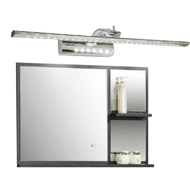 LED fixtures 7W Bathroom LED Mirror Light AC220V SMD5050 Stainless Steel Dressing Table Sconces LED Wall Lamps with Switch
